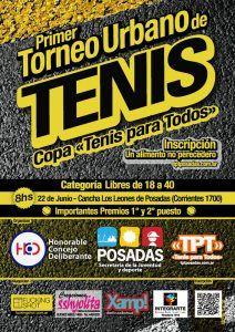 Afiche Primer Torneo Urbano de Tenis