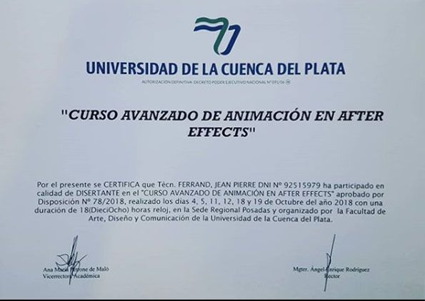 After Effects Avanzado en Cuenca del Plata Posadas