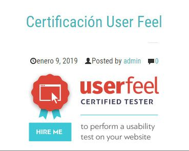 Certificación User Feel